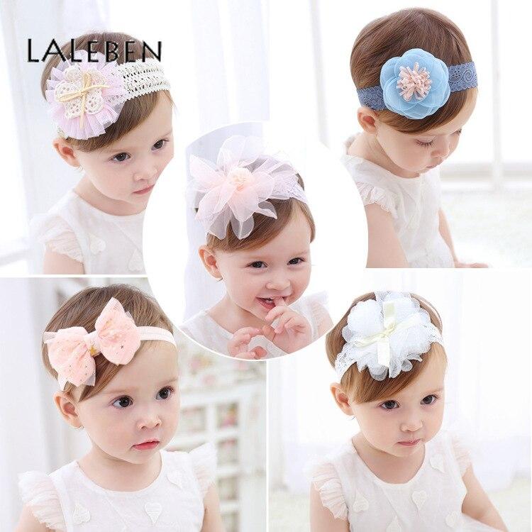 2019 Floral Baby Headbands For Girls Children's Hair Accessories Baby Hair Turban Little Girl Beautiful Princess Headgear
