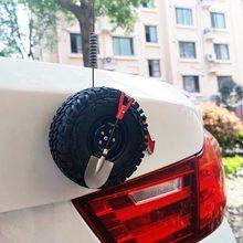 Carro mini fora-estrada tronco personalidade pequeno pneu de reposição decoração corpo 3d estéreo adesivo modificado peças de automóvel