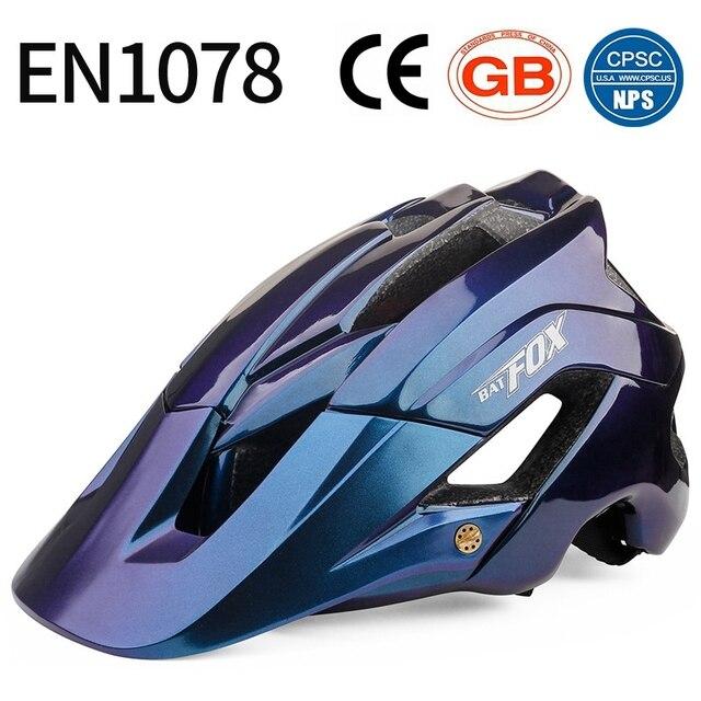 Batfox novo mtb bicicleta capacete com segurança tampa ultra-leve mountain road ciclismo esportes ao ar livre equitação capacetes de proteção 4