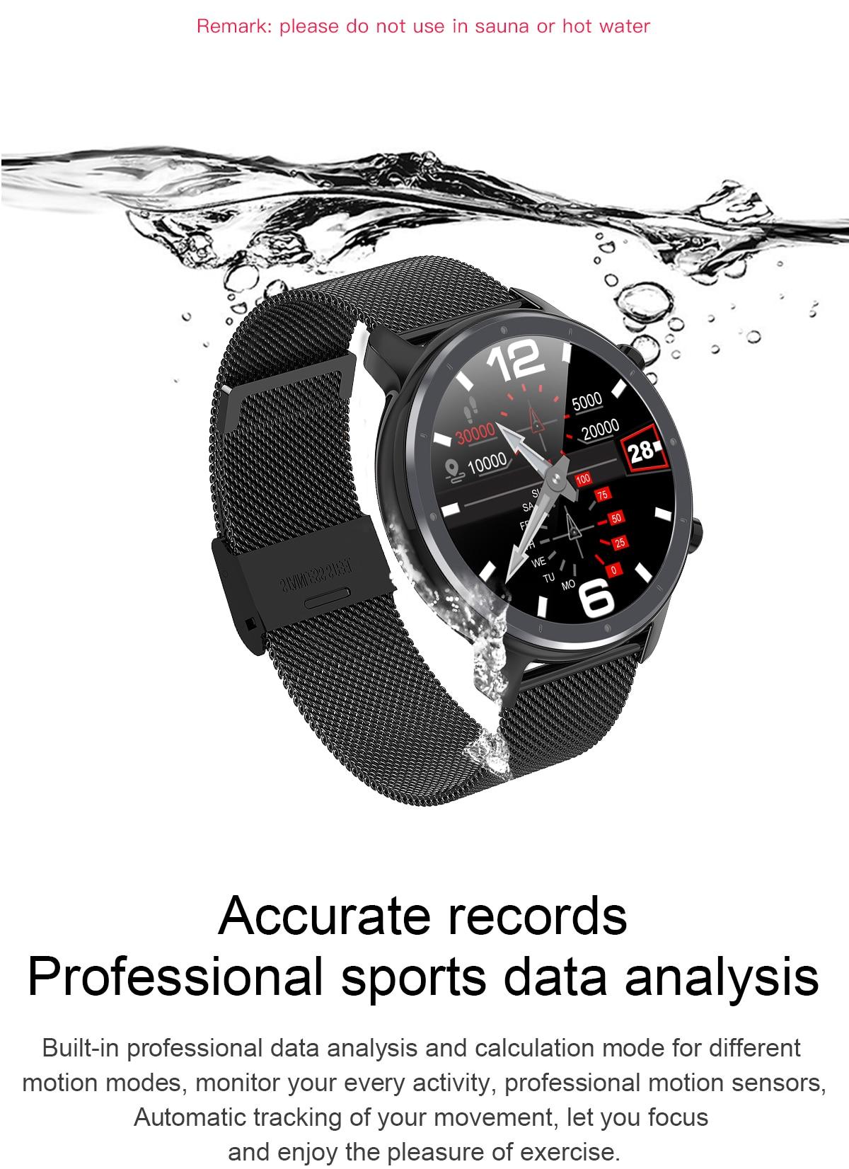 Hc2dd3d8ab3e044fda704f0dbc087bacdz LEMFO 2020 Smart Watch Men Full Touch Screen  IP68