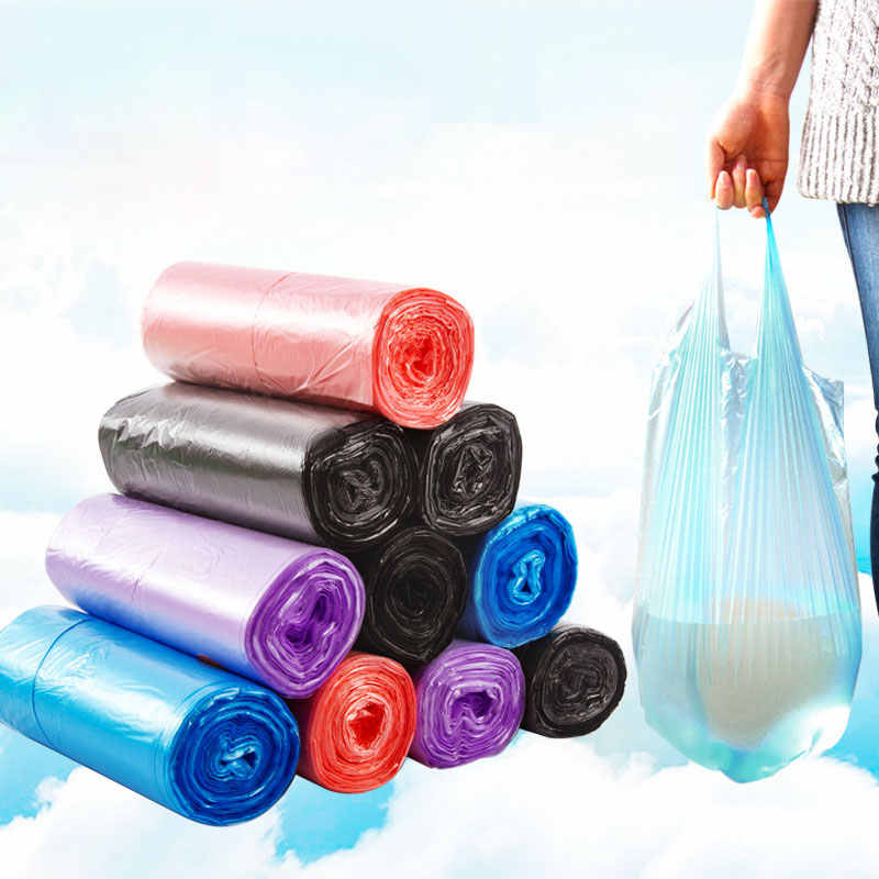 Vanzlife casa portátil colete tipo sacos de lixo grande sacos de lixo cozinha cor espessamento fábrica dispensador pequenos sacos de plástico