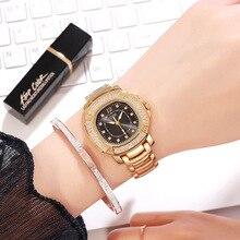 цена Luxury Watch Women Water Resistant Stainless Steel Watchband Quartz Ladies Watch Diamond Fashion Relogio Feminino Luxury Brand онлайн в 2017 году
