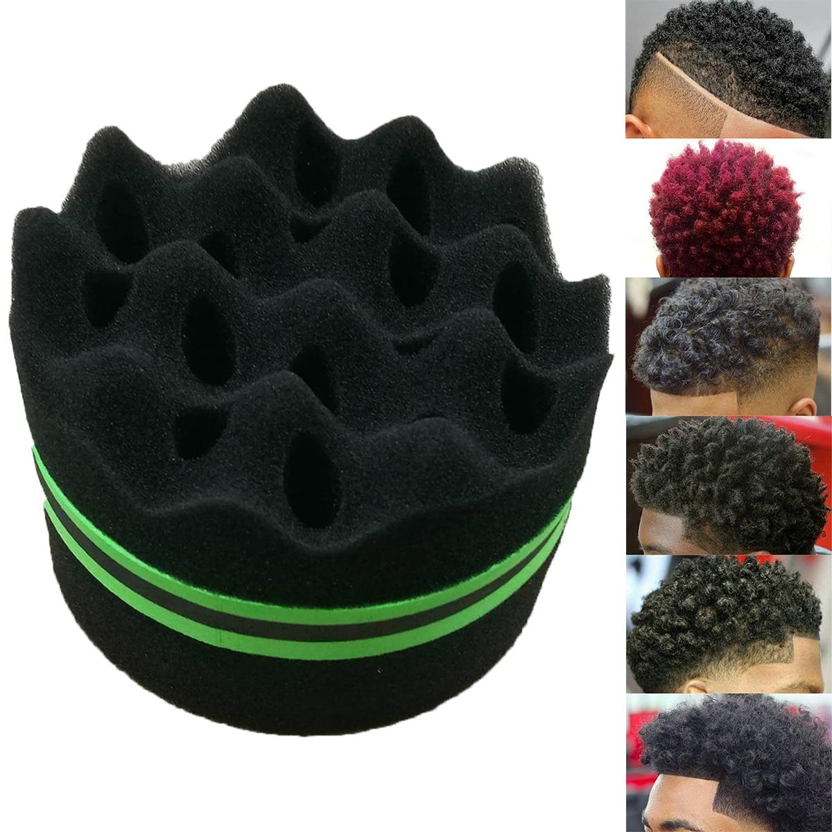 Reusable Wave-shaped Sponge Brushes Multi-holes Side Braid Twist Hair Curl Wave Hair Sponge Brush Hair Styling Tools
