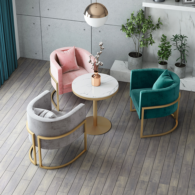 modern cafe furniture marble top restaurant coffee shop tables and chairs
