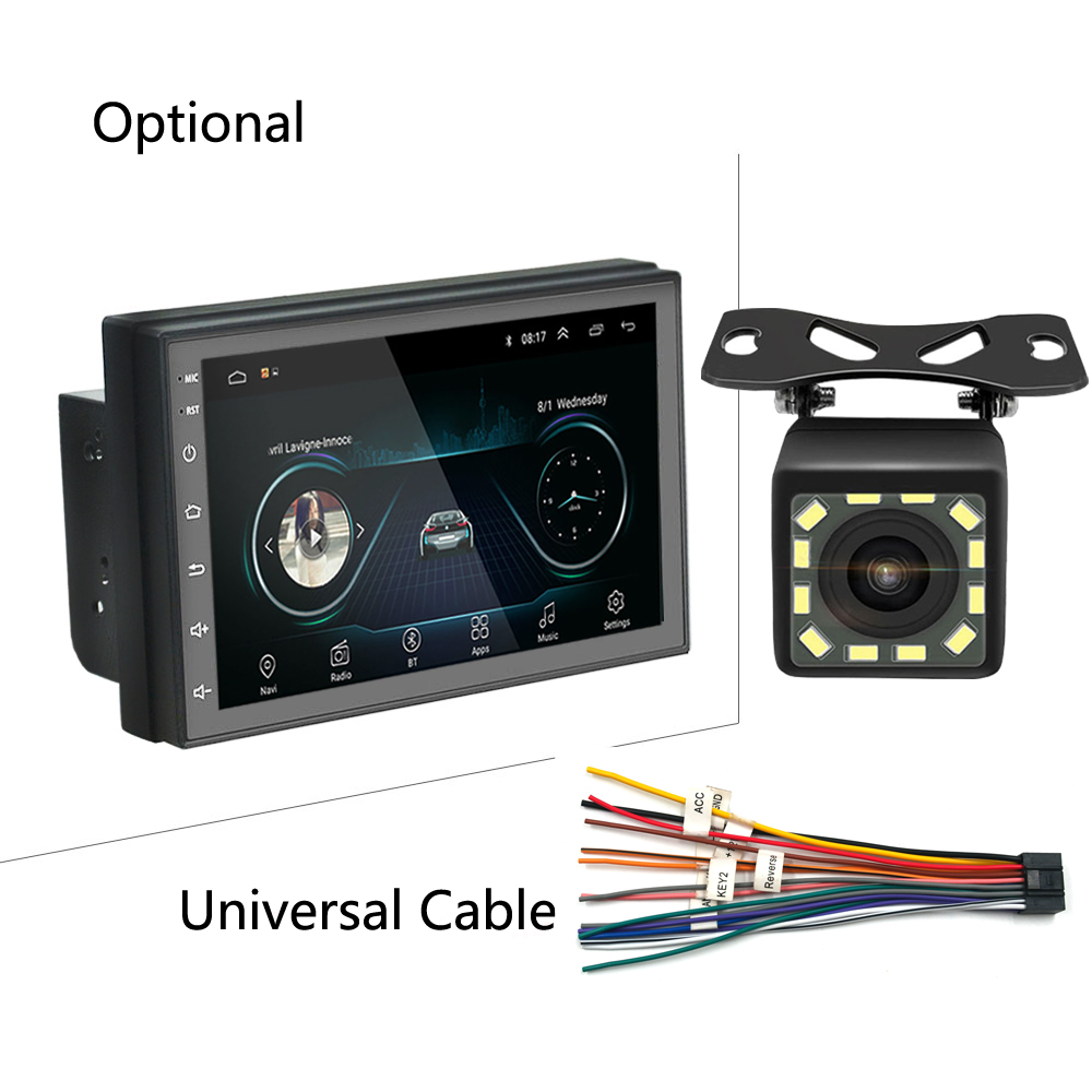 Android 2din Car Multimedia MP5 Player Radio GPS Navi WIFI Autoradio 7'' Touch Screen Bluetooth FM Audio Car Stereo