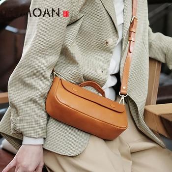 EUMOAN Leather mini bag, personality cute parent bag, female hundred with slant edith bag, one shoulder bag