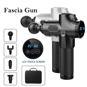 Pistola de masaje corporal con pantalla LCD, pistola masajeadora eléctrica para ejercicios musculares, masajeador de cabeza para cuello y espalda, vibrador adelgazante
