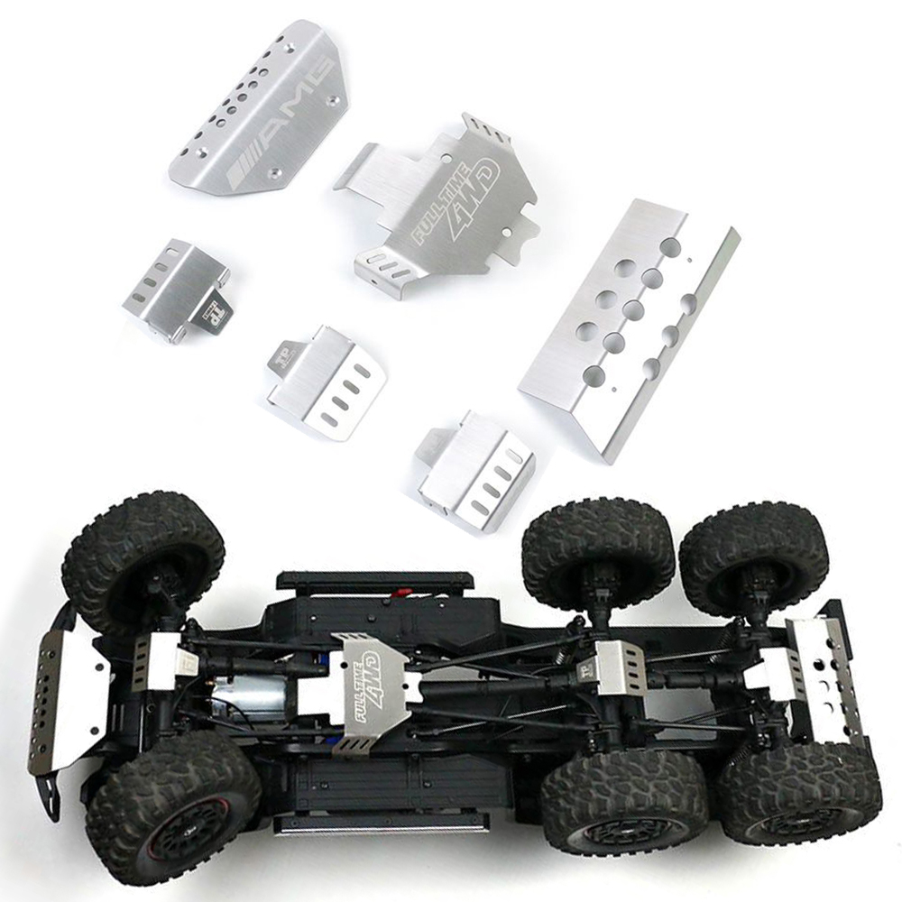 Metal Front Rear Guard Chassis Axle Armor For 1/10 RC Crawler Car Traxxas TRX6 G63 DIY OP Parts