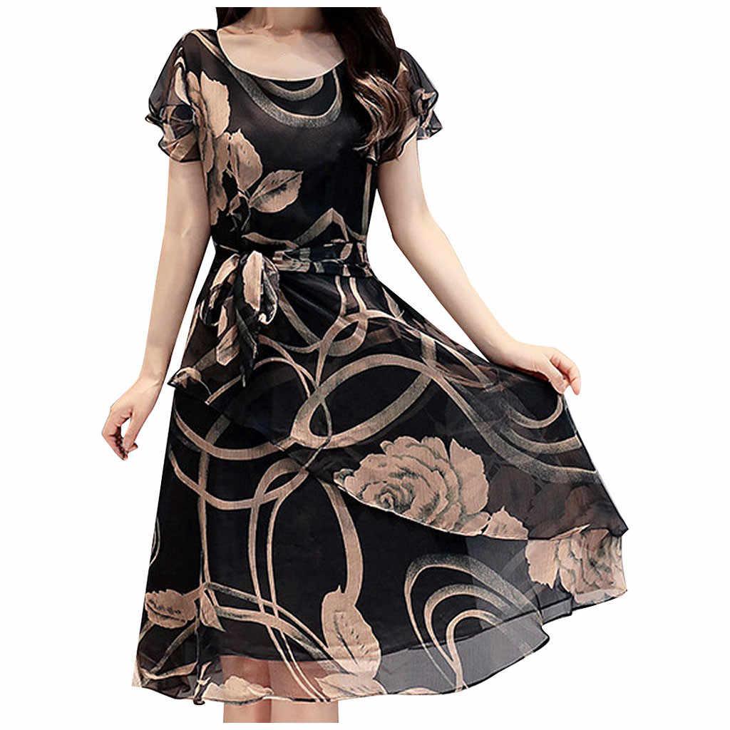 Camisa de manga curta vestido 2020 verão boho praia vestidos femininos casual listrado impressão a linha min vestido de festa # y30