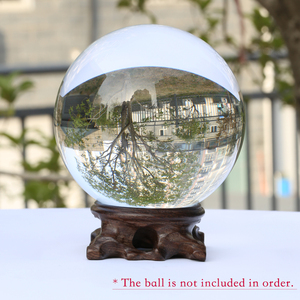 Image 5 - Wood Display Stand for Crystal Glass Lens Ball Large Divination Photography Lensball Base 40 60 80 100mm Big Magic Sphere Holder
