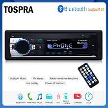 TOSPRA Автомобильный мультимедийный плеер Bluetooth Авторадио MP3 музыкальный плеер Автомобильный стерео радио FM Aux вход приемник USB 12 В в-тире 1 din