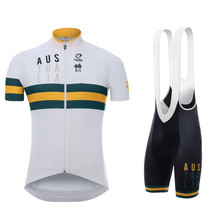 цена на 2020 Australia Pro team cycling Jersey set summer men MTB bicycle clothing summer ropa ciclismo short sleeves jersey bib shorts