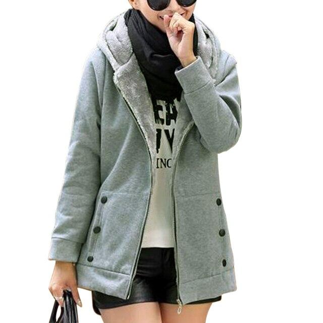 2020 Zipper Warm Fashion Hoodies Women Long Sleeve Hoodies Jackets Hoody Jumper Overcoat Outwear Female Sweatshirts 6