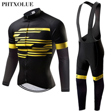 Cycling Clothing Mtb-Jerseys Bicycle-Wear Bike Thermal Fleece Winter Men Phtxolue