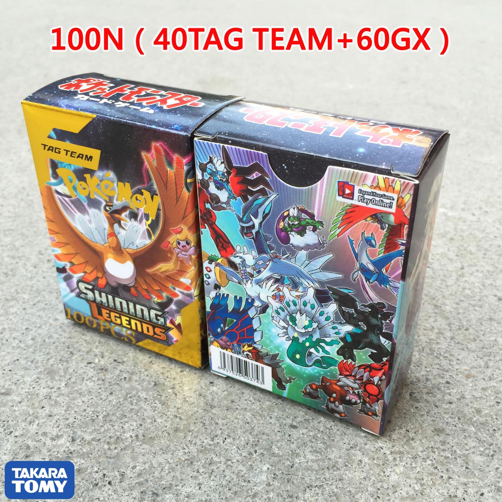 100 PcsGX TEAM Shining TAKARA TOMY Cards Game Battle Carte 100pcs Trading Cards Game Children Toy PokemonOriginal Flash Cards