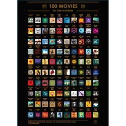 Risque o cartaz 100 imperdível filmes de topo de todos os tempos lista de balde (60x42 cm)