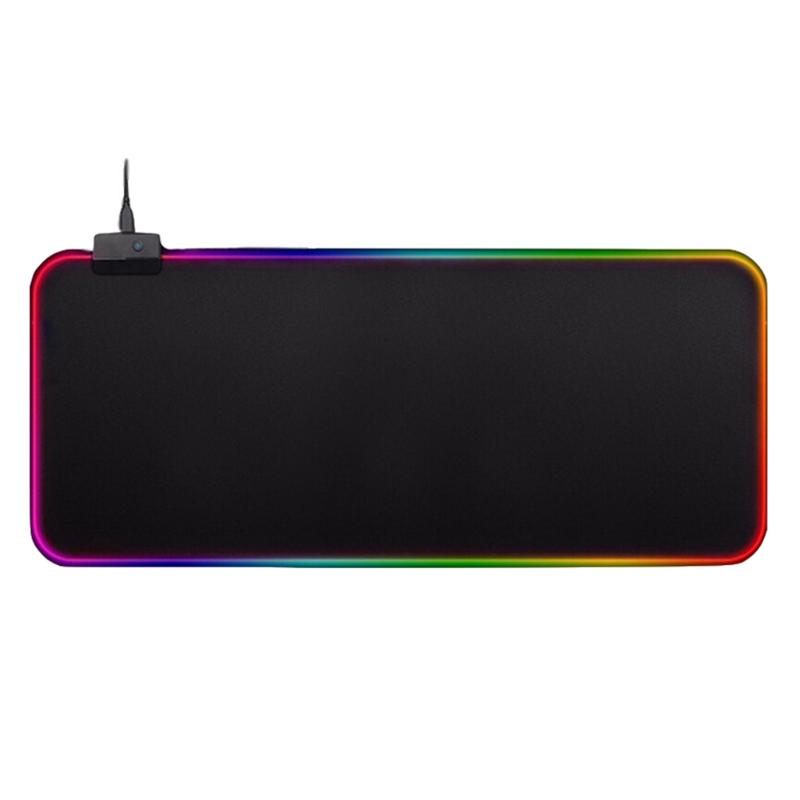 300x800mm Large <font><b>LED</b></font> Colorful <font><b>RGB</b></font> <font><b>Mouse</b></font> <font><b>Pad</b></font> Lighting Game <font><b>Mouse</b></font> Keyboard Mat Support Dropshipping image