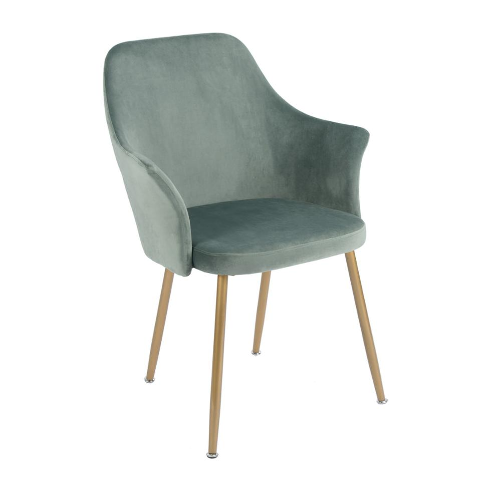 EGGREE Paris Velvet Dining Armchair For Dining Room, Bedroom And Living Room - Cactus - 2-8days EU Warehouse