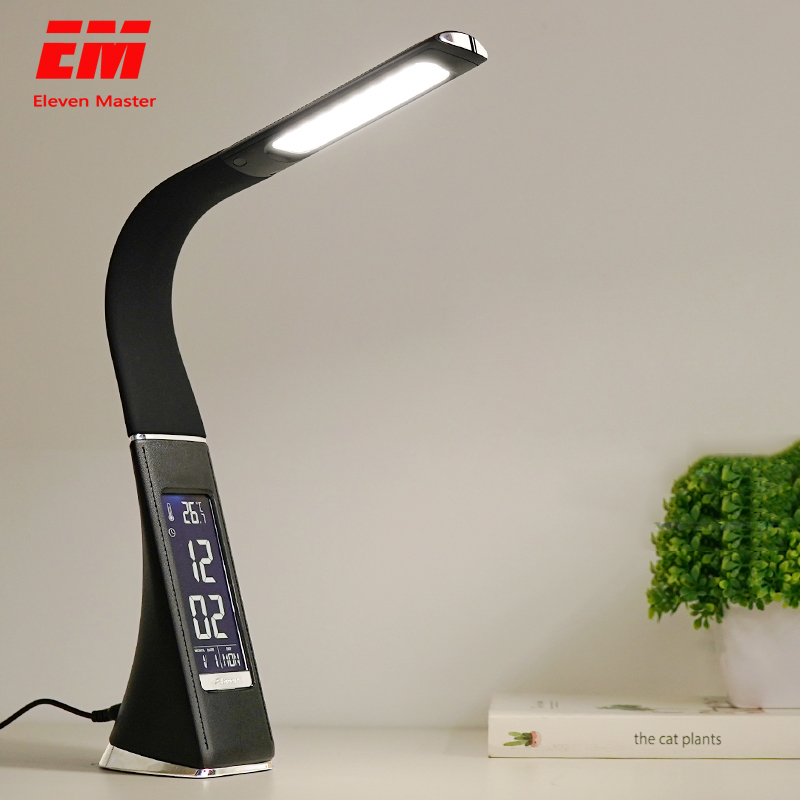 5W LED Desk Lamp Foldable Dimmable Touch Table Lamp with Calendar Temperature Alarm Clock table Light night lights ZZD0022|Desk Lamps|   - AliExpress