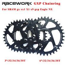 Mtb sram gxp chainring bicicleta estreita grande mountain bike chainwheel 32t 34t 36t 38t para gxp x01 x9 xo gx águia nx cárter