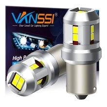 VANSSI 2PCS 1500lm Super Bright 1156 LED หลอดไฟ6000K สีขาว7506 1141 P21W Ba15s LED ย้อนกลับ DRL Tail เบรคหยุดหลอดไฟ LED