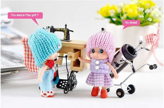 2019 New  1Pcs Kids Toys Soft Interactive Baby Dolls Toy Mini Doll For girls and boys Dolls & Stuffed Toys Free Shipping 4