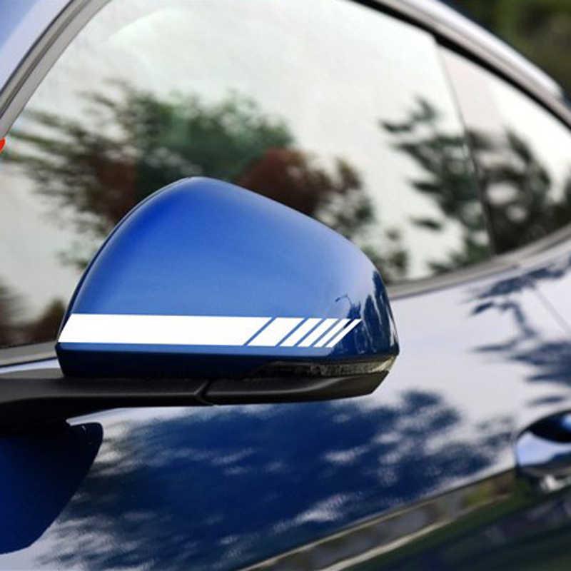 Espelho retrovisor lateral listras vinil decalque etiqueta do carro para honda civic accord caber crv hrv jazz cidade CR-Z elemento insight