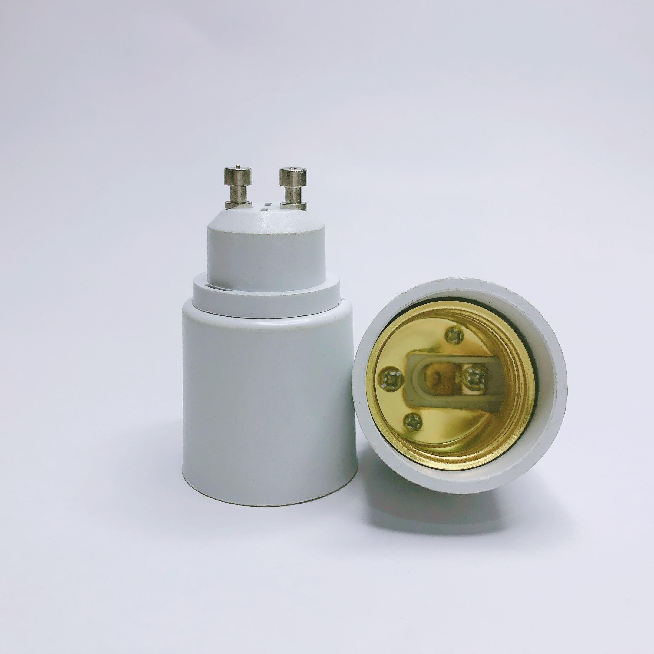 Led Lamp Base Converter GU10 to E27 Screw Light Bulb Holder Adapter Socket Plug Extender PBT Plastic Safty Fast Ship(China)
