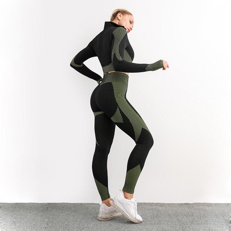 Женские наборы спортивной одежды рубашка с длинным рукавом спортивный