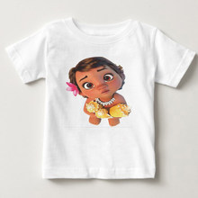 Novo meninos meninas camiseta crianças t camisas da menina do bebê dos desenhos animados moana oceano romance crianças manga curta vaiana t camisa topos 2020