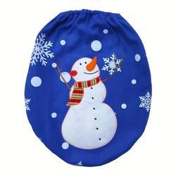 3Pcs/set Christmas Santa Toilet Seat Cover Anti-Slip Bathroom Mat Toliet Rug Christmas Decoration for Home New Year Mat 4