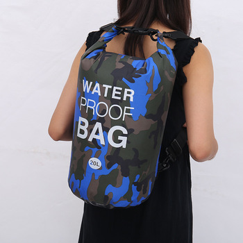 2L-30LOutdoors Waterproof Backpack Bag Camouflage Dry Backpack Rafting Diving Dry Bag Sack PVC Swimming Bags For River Trekking