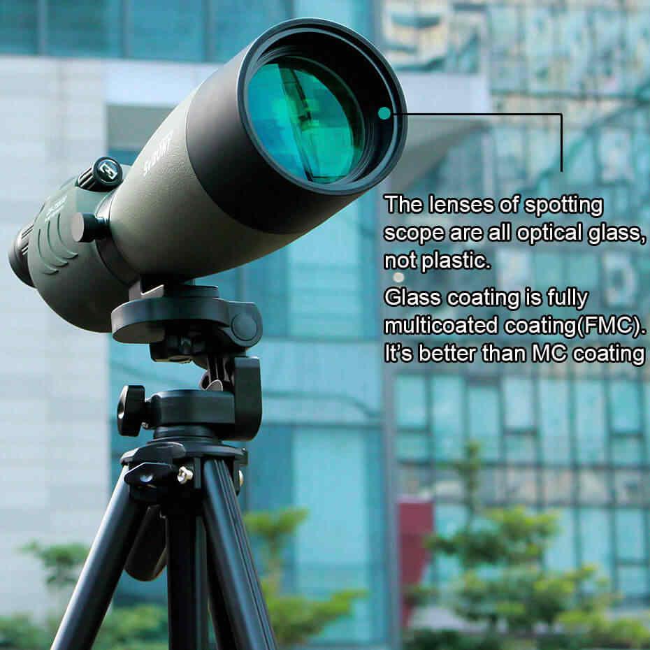 SVBONY تلسكوب 25-75x70 التكبير نطاق الإكتشاف SV17 BAK4 المنشور FMC عدسة طلاء الصيد أحادي العين مقاوم للماء في الهواء الطلق البصرية للصيد ، وإطلاق النار ، والرماية ، مراقبة الطيور