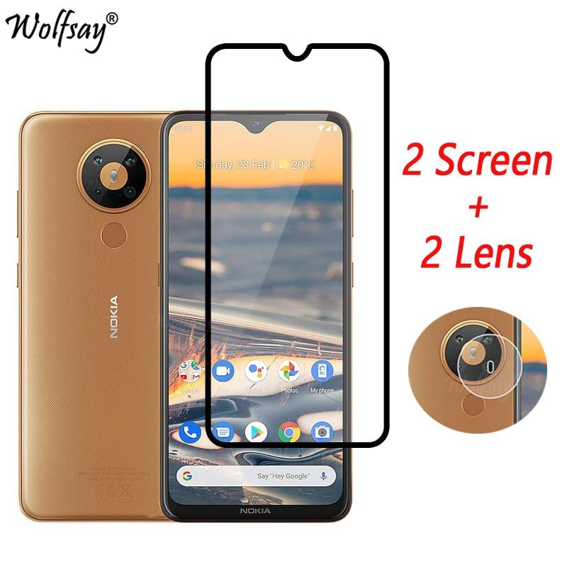 Закаленное стекло с полным покрытием для Nokia 5,3, Защита экрана для Nokia 5,3, стекло для камеры Nokia 5,3, стекло 6,55 дюйма