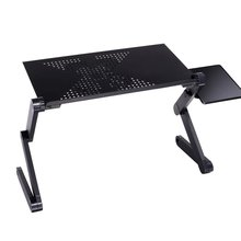 Table-Desk-Stand Ergonomic Laptop Adjustable Notebook Cooling-Fan Aluminum PC with Mouse-Pad