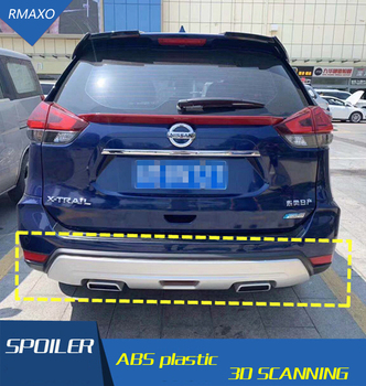 For Nissan X-TRAIL Body kit spoiler 2017-2019 For X-TRAIL  ABS Rear lip rear spoiler front Bumper Diffuser Bumpers Protector