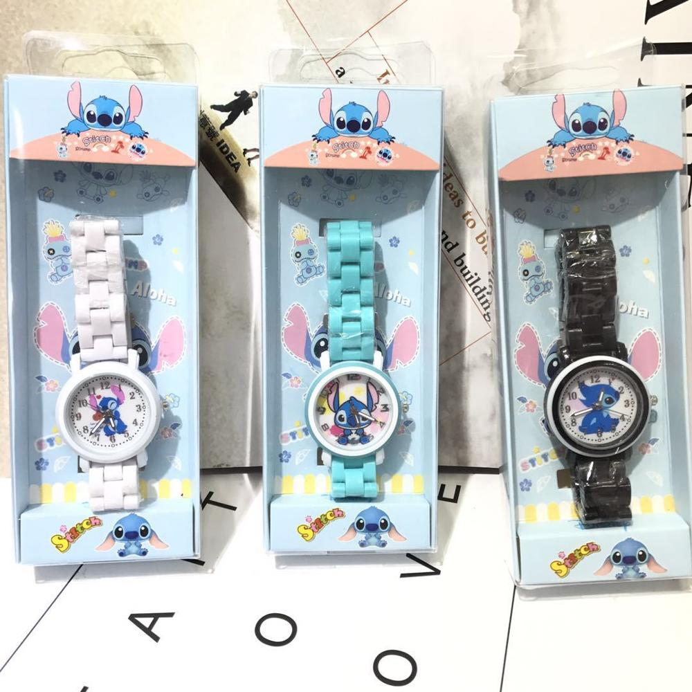 Kt Cat Children Cartoon Watch Girl Watch Student Silicone Belt Children Watch Cat Head Cute Children Watch
