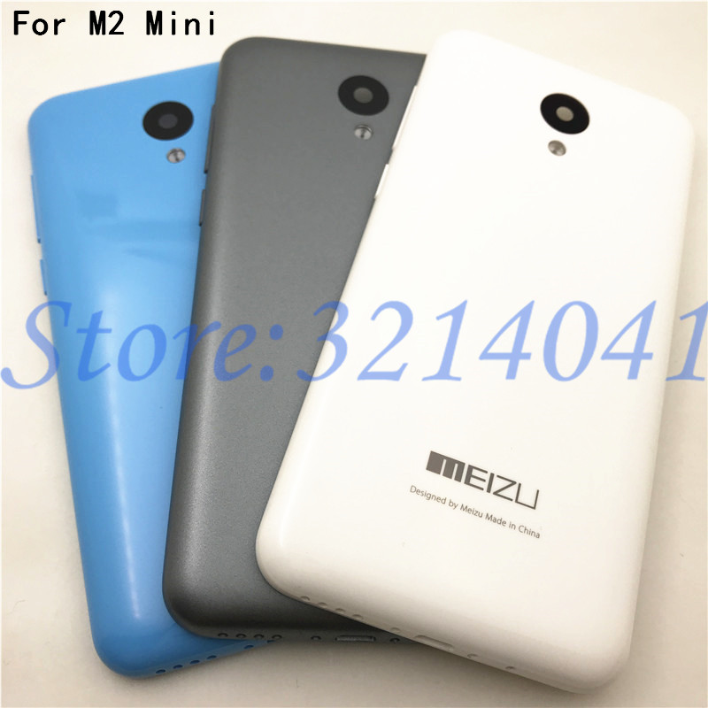 Original 5.0 Inch New Battery Door Back Cover Housing Case For MEIZU M2 Mini With Camera Lens With Power Volume Buttons