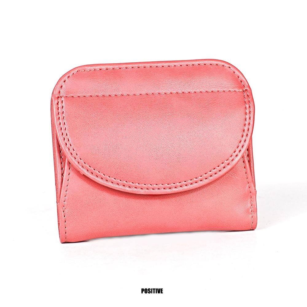 Sundo Women's Short Wallet Genuine Leather Female Mini Wallet Casual Small Card Holder Purses Coin Pocket For Girls Money Bag
