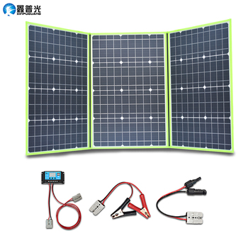 150w 50w*3 20v mono solar panel flexible foldable for home charger kit controller 5v usb for 12v RV car battery camping travel 2