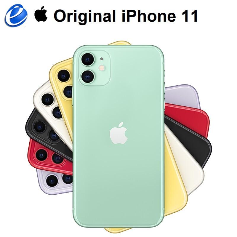 Оригинальный Смартфон Apple iPhone 11, дисплей 6,1 дюйма с технологией Liquid Retina, двойная камера, A13, бионический чип, 4G LTE, IOS
