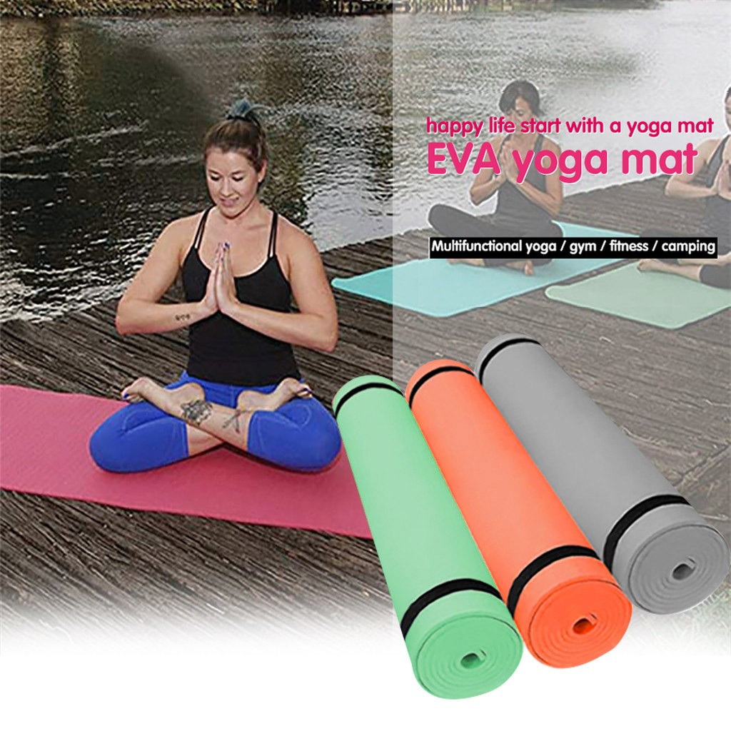 Yoga Mat High Quality Non Slip Carpet Mat 4MM EVA Environmental Fitness Gymnastics Anti-Slip Yoga Mats With Position Line D3