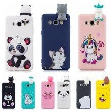 J4 J6 3D przypadku na etui Samsung J3 J5 J7 2016 przypadku Kawaii jednorożec Panda pokrywa na Galaxy J4 J6 Plus 2018 J3 J7 J5 2017 ue Casa
