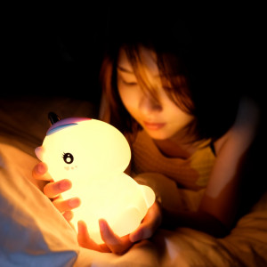 Image 3 - Unicorn LED Night Light Touch Sensor Colorful USB Rechargeable Cartoon Silicone Bedroom Bedside Lamp for Children Kids Baby Gift