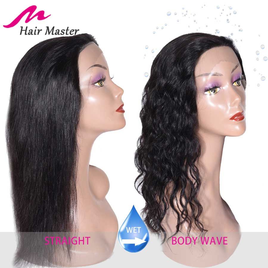 16 Inch Wet And Wavy Human Hair Wigs Straight After Wet To Body Wave Wigs Hair Master Indian Hair Wigs For Women