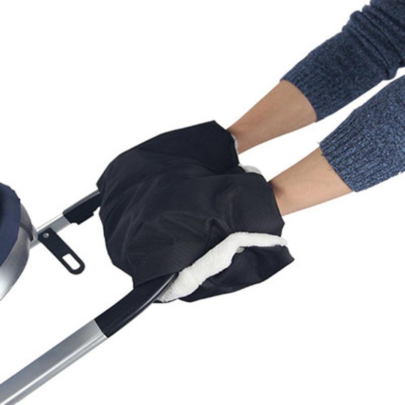 Baby Stroller Pushchair Windproof Gloves Waterproof Fleece Hand Wheelchair Muff Children Cart Hand Cover
