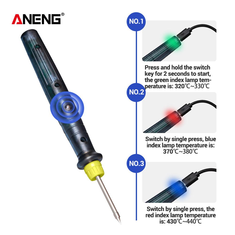 LT002 USB Adjustable Temperature Electric Soldering Iron 5V DC/8W Welding Solder Rework Station Heat Pencil Repair Tools паяльн