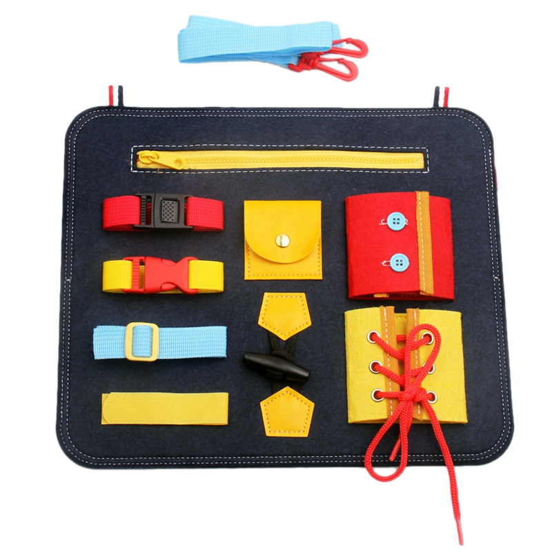 Dressing Learning Board Baby Early Education Cloth Book Toys Children's Educational Aids