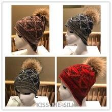 Км новейшая модель; Кашемировая шапка с меховым помпоном в тепле