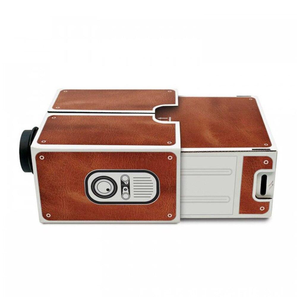 Mini projetor de telefone inteligente cinema portátil uso doméstico diy cartão projetor família entretenimento dispositivo projectivo-2